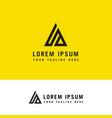 a minimal letter logo concept premium line vector image vector image