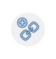 add hyperlink link web icon vector image