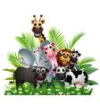 Animal landscape vector image vector image