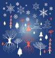 Beautiful Christmas winter for vector image vector image