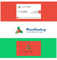 beautiful socks logo and business card vertical vector image vector image