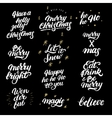 Big set of hand drawn christmas lettering and vector image vector image