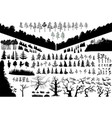 biggest isolated trees set wich can vector image