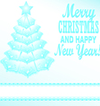 blue Christmas tree festive paper vector image