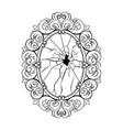 broken mirror coloring book vector image vector image