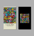 business cards design ethnic vintage ornament vector image vector image
