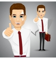 businessman giving thumbs up vector image