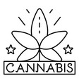 cannabis leaf logo outline style vector image vector image