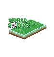 cartoon soccer field vector image vector image