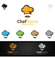 chef food logo for restaurant or cafe vector image vector image
