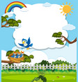 chicks and its mother bird in nature vector image vector image