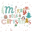 Christmas Calligraphic And Typographic Background vector image vector image