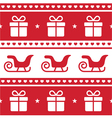 Christmas card seamless pattern vector image vector image