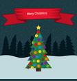 christmas tree with colorful toys vector image vector image
