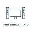 cinema home theater line icon cinema vector image vector image