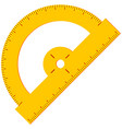 colorful cartoon angle protractor icon vector image