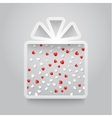 empty gift box with ribbon and confetti vector image vector image