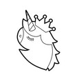 fantasy unicorn horned and crown fantasy vector image vector image
