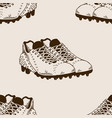 football equipment seamless pattern engraving vector image vector image