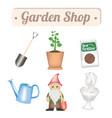 garden shop object vector image