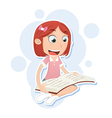 girl sitting and reading vector image vector image