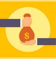give corruption money bag concept background flat vector image vector image