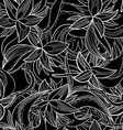 hand-drawn floral abstract seamless pattern vector image vector image