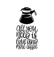 handwritten phrase of all you need is love vector image