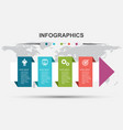 infographic design template with step arrow vector image