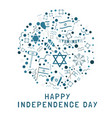 israel independence day holiday flat design icons vector image vector image