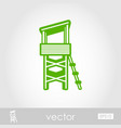 lifeguard tower outline icon summer vacation vector image