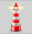 lighthouse building isolated on grey vector image