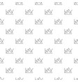 line diagram pattern seamless vector image vector image