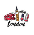 london england toruism travel vector image vector image