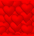 lots red hearts seamless pattern background vector image