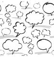 Marker Speech Bubbles Seamless Pattern vector image vector image