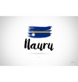 nauru country flag concept with grunge design vector image vector image