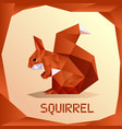 origami orange squirrel vector image vector image