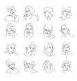 people portraits or sketch avatars men and women vector image