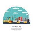 Petroleum Industry Template vector image vector image