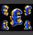 pound sterling sign vector image vector image