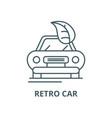 retro car line icon linear concept vector image