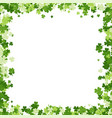 saint patricks day background made clover vector image vector image