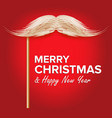 santa s mustache classic christmas vector image