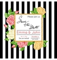 save date card with rose marriage invitation vector image vector image