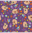 seamless pattern for day of the dead image vector image