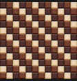 seamless pattern with chocolate cubes tiles vector image vector image