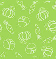 seamless silhouette vegetable pattern vector image vector image