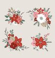 set christmas bouquets made fir spruce oak vector image vector image