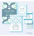 Set of stylish multipurpose Save the date vector image vector image